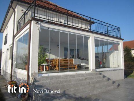 Zastakljivanje terase klizno-preklapajućim sistemom Claro Flex Beograd Fit in