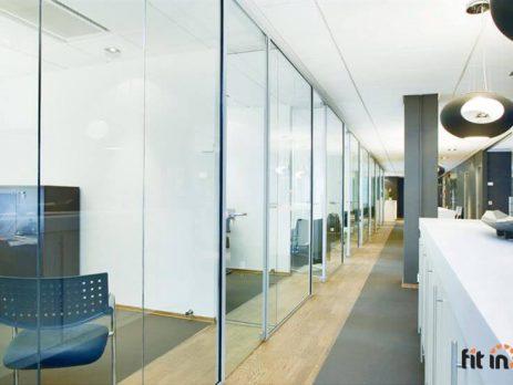 Kancelarijske pregrade od stakla Fit in